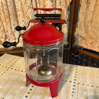 Wolverine early wringer washing machine, glass tub