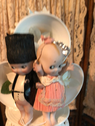 Kewpie Cake Topper Bride and Groom