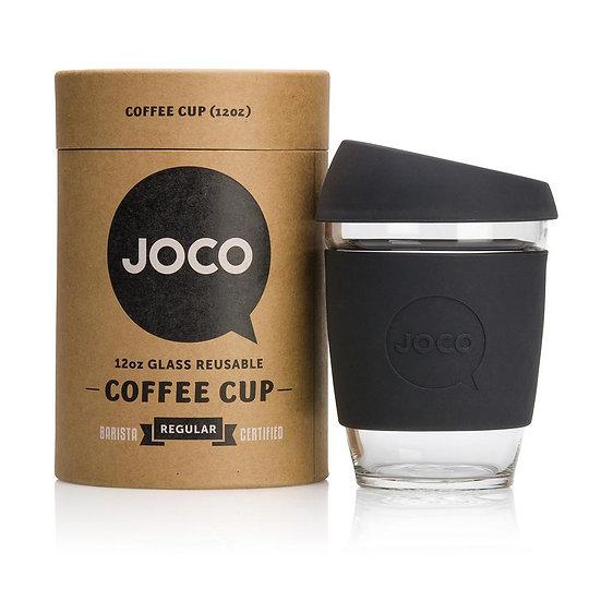 Joco Glass 12 oz Coffee Cup- Black