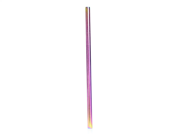 Smoothie Coloured Stainless Steel Straw - Rainbow