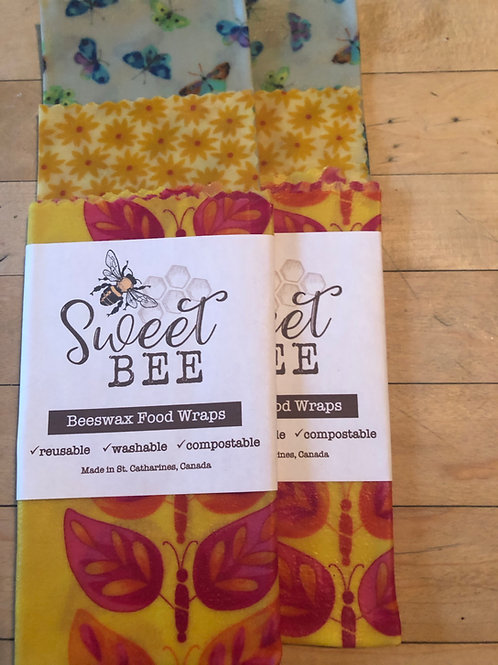 Sweet Bees 3 Wrap Set - Butterfly