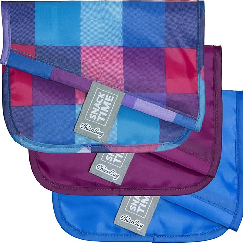 Chico Bag Snack/Sandwich Bags- Bright Pixels ( 3-pack)