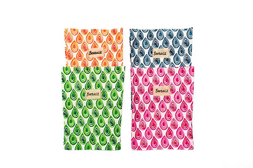 BeeBAGZ Wrap Medium Bags -Set of 4