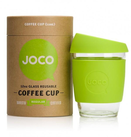 Joco Glass 12 oz Coffee Cup - Lime
