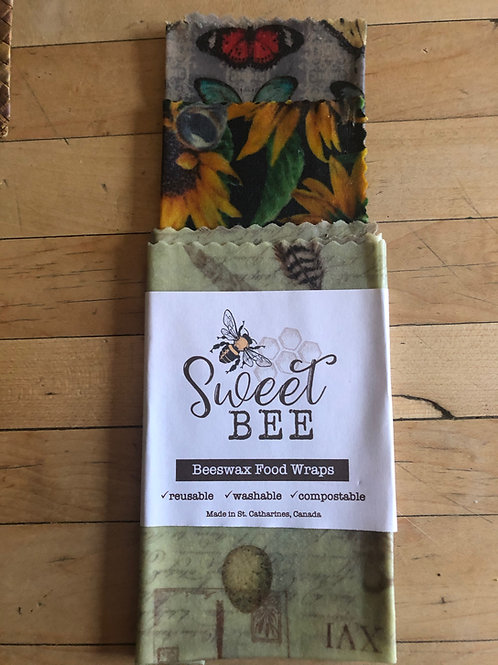 Sweet Bee 3 Wrap Set - Sun Flower