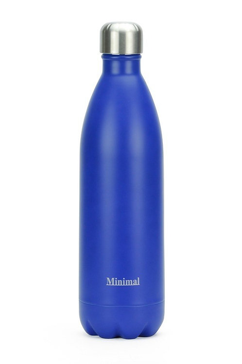Minimal Insulated 1Litre bottle -Blue