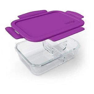 BentGo 3 Compartment Glass Container - Purple