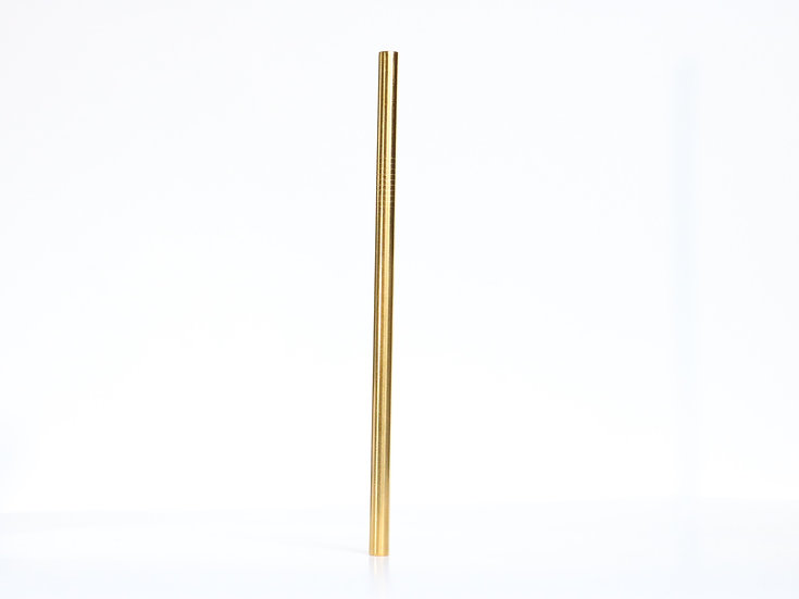 Smoothie Coloured Stainless Steel Straw - Gold