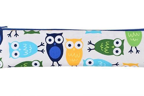 Colibri Snack/Straw Bag - Blue Owls