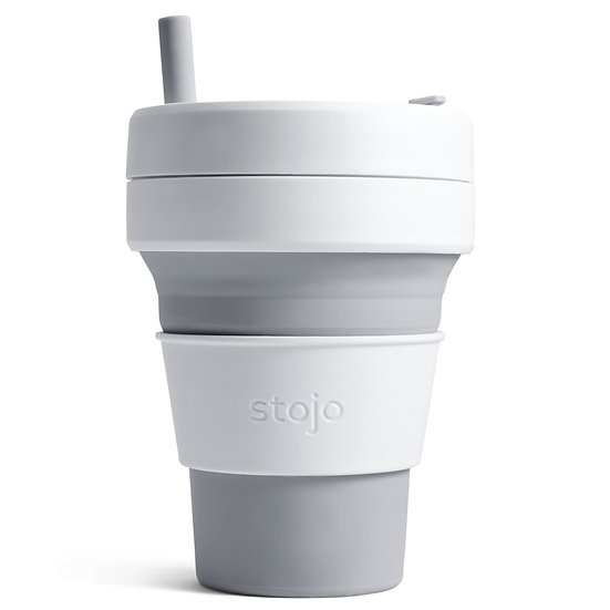 Collapsible Biggie Cup 16 0z/475 ml -Light Grey