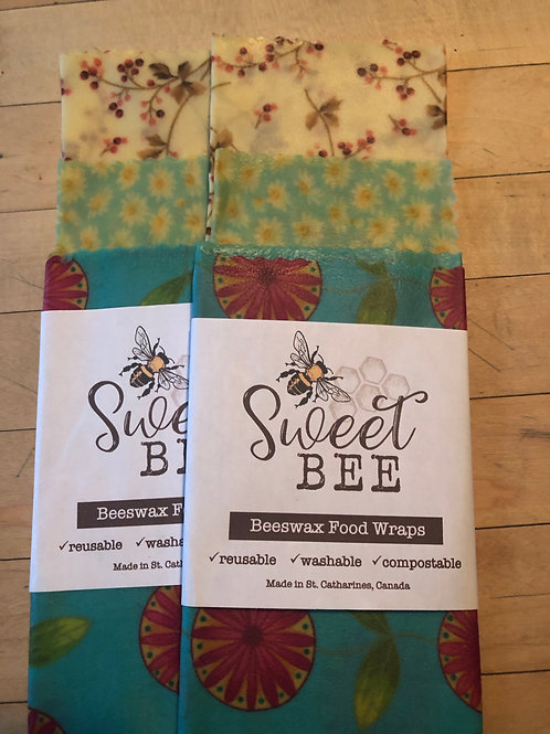 Sweet Bee Wraps - 3 Wrap Set - Summer