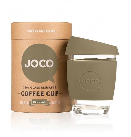 Joco Glass 12 oz Coffee Cup-Olive