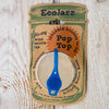 Pop Top Sealable Drinking Jar Lid- Wide Mouth - Blue