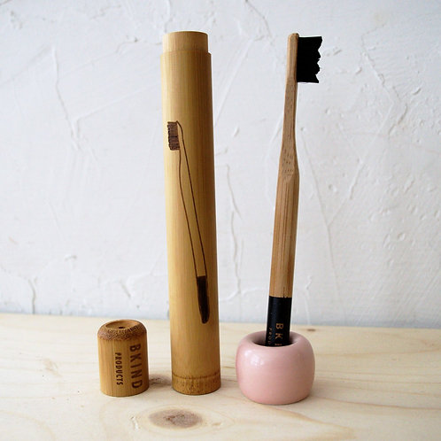 BKIND Bamboo Toothbrush Travel Case