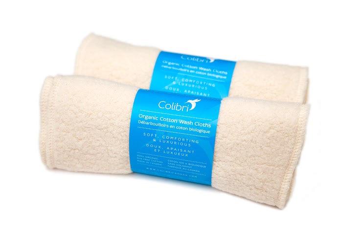 Organic Cotton Sherpa Wash Cloths- Set of 5