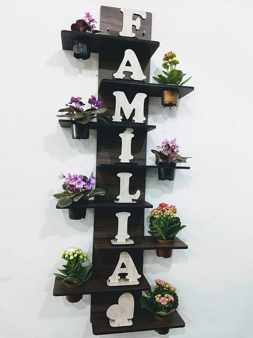 Porta Flores/Suculenta +Palavra Família ou Gratidão