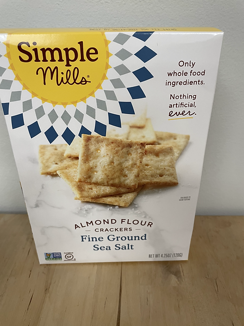 Sea Salt Almond Flour Crackers