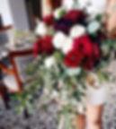 Burgundy bouquet by Flora Artisan