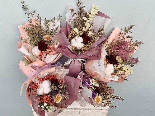 Preserved Petite Flower Bouquet Bundle (of 5)