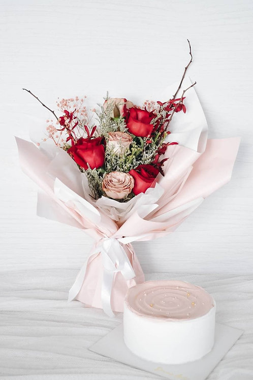 Mother's Day Bouquet & Cake Bundle