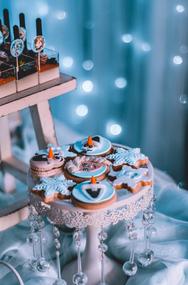 Frozen Themed Fondant Cookies