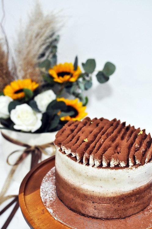 Sunflower Box with Cake