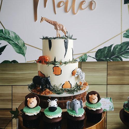 Rustic Safari Cake