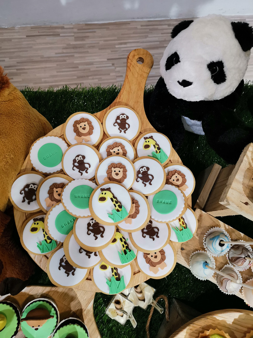 Safari Themed Fondant Cookies