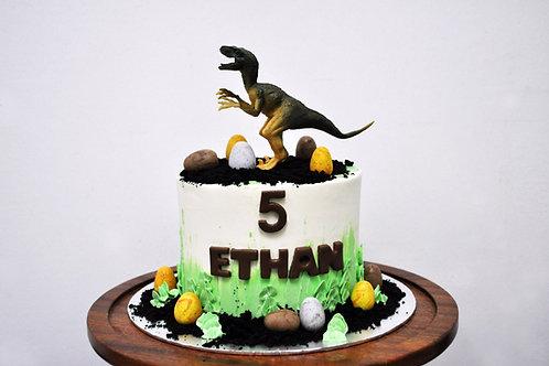 Dinosaur & Eggs Cake
