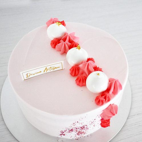 Sakura Mango Peach Cake