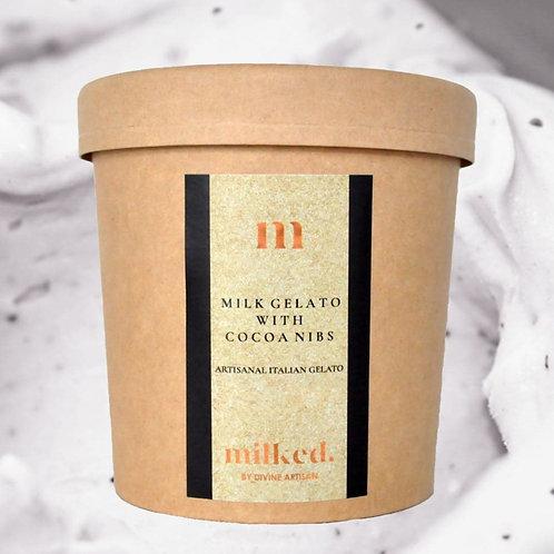 Milk Gelato with Cacao Nibs