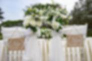 Wedding solemnisation chairs