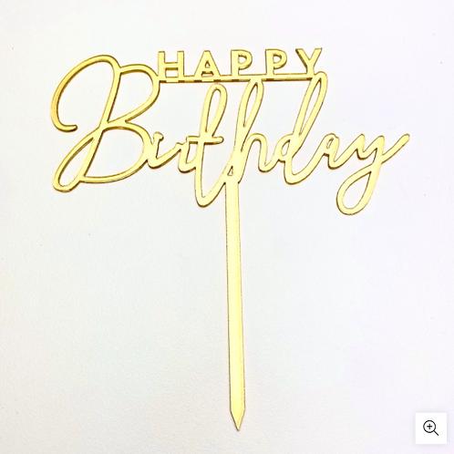 Happy Birthday Wording Cake Topper