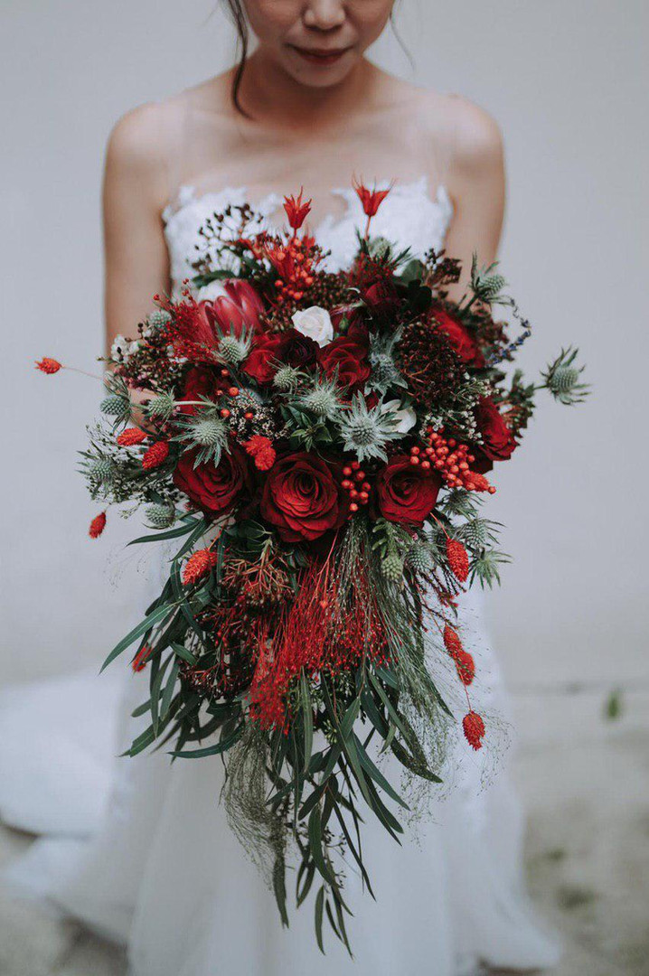 Rustic Red Bouquet (Cascading)