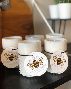 The first few Vintage Bee candles are re
