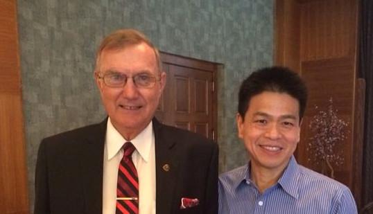 Dr Fraser and Dr Lee with Dr Spahl