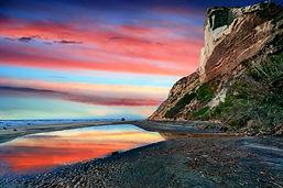 Torrey Pines State Beach shot at dusk du