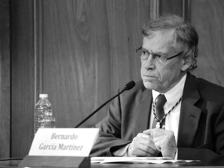 Miembro Emérito: Bernardo García Martínez