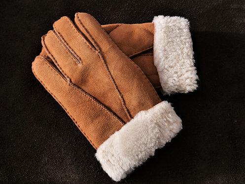 Fingerhandschuh Patchwork Lammfell