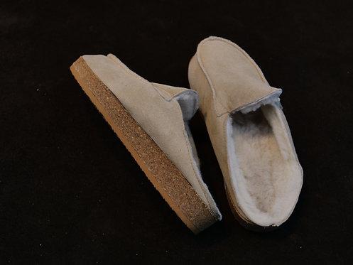 Lammfell-Pantoffel mit Korkfußbett - Chef´s Liebling