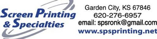 Screen Printing Logo with Contact horizo