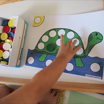 Montessori Activity: Color Counter Level 1