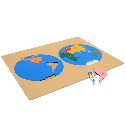 Montessori Puzzle Map- Continents