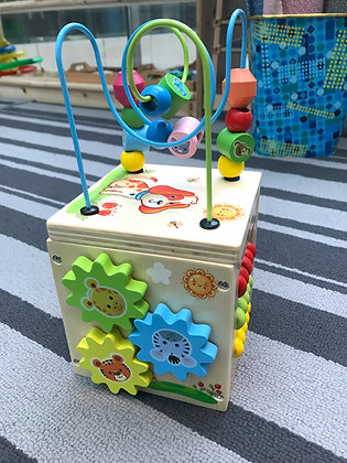 Multifunctional 5 In 1 Activity Cube