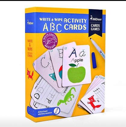 MiDeer Write & Wipe Activity ABC Cards