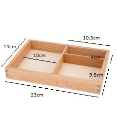 3-part cards tray