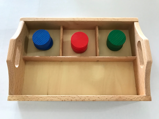3-compartment sorting tray + color counter