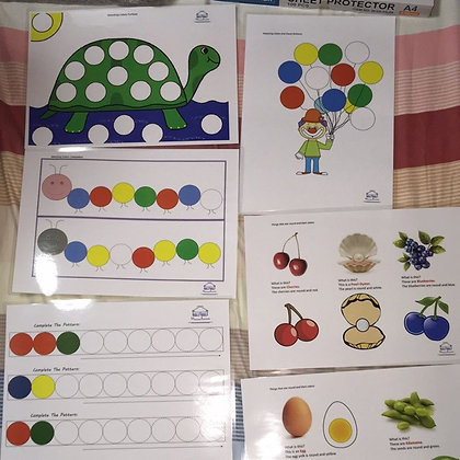 Montessori Colored Counter Set 1 Worksheets