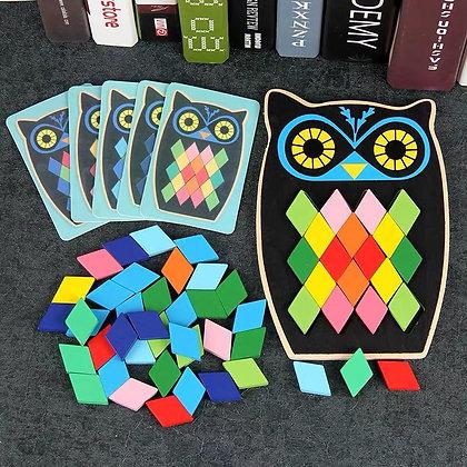 Owl Shape Animals Mosaic