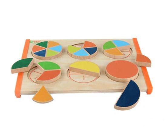 Wooden Fraction Board